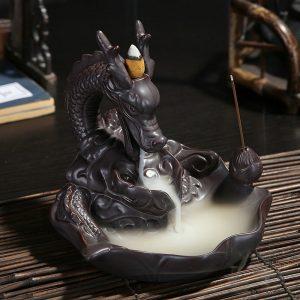 Figura Dragón con Incienso