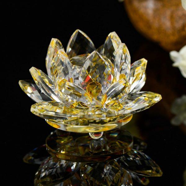 Flor De Loto en Cristal
